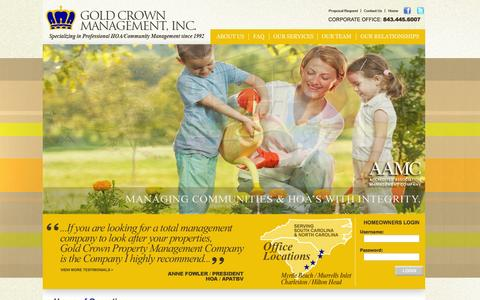 Screenshot of Hours Page gold-crown.com - Accredited Association Management Company | Professional Community Association Management Company - captured May 22, 2016