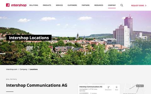 Screenshot of Locations Page intershop.com - Locations - Intershop Communications AG - captured Sept. 22, 2018