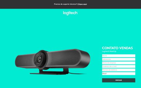 Screenshot of Landing Page logitech.com - Logitech MeetUp | Contact Us - captured March 2, 2018
