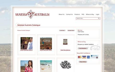 Screenshot of Products Page vanessaaustralia.com.au - Vanessa Australia Catalogue - captured Oct. 7, 2014