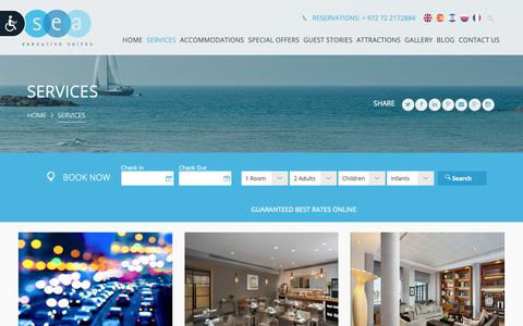 Screenshot of Services Page sea-hotel.co.il - Services of Tel Aviv Suites Hotel | Sea Executive Suites - captured Oct. 18, 2018