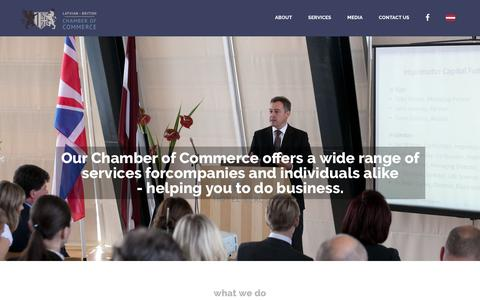 Screenshot of Home Page latvianchamber.co.uk - Latvian British Chamber of Commerce in the UK - captured Feb. 15, 2016