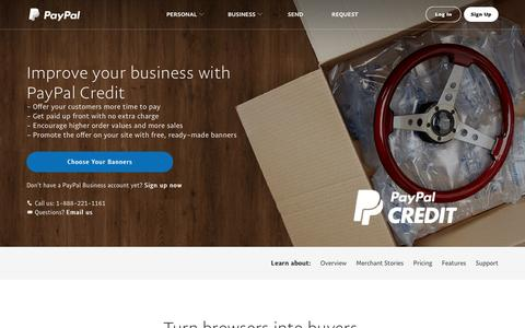 PayPal Promotional Financing: Your Customers Get a Credit Line, You Get Paid Right Away - PayPal