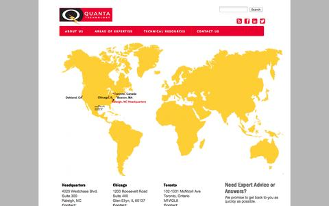 Screenshot of Locations Page quanta-technology.com - Quanta Technology, LLC. | Expertise in Energy T&D - captured Oct. 3, 2014