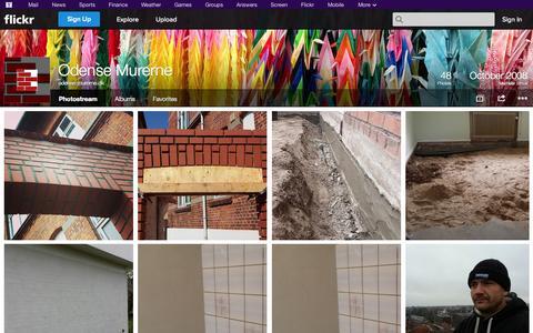 Screenshot of Flickr Page flickr.com - Flickr: odense-murerne.dk's Photostream - captured Oct. 27, 2014