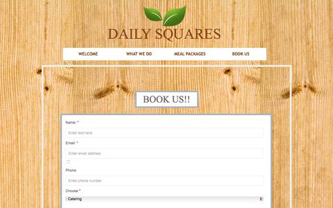 Screenshot of Privacy Page dailysquares.com - Contact - captured Aug. 5, 2018