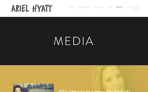 Screenshot of Press Page arielhyatt.com - Media — Ariel Hyatt - captured Feb. 24, 2018