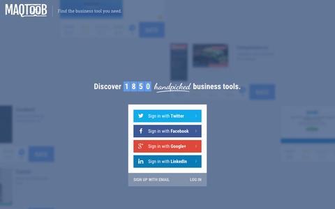 Screenshot of Home Page maqtoob.com - MAQTOOB - captured Dec. 9, 2015