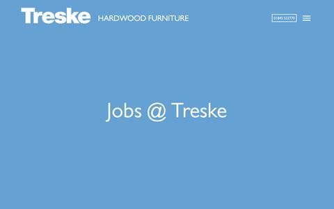 Screenshot of Jobs Page treske.co.uk - Jobs at Treske Furniture - captured Dec. 16, 2016