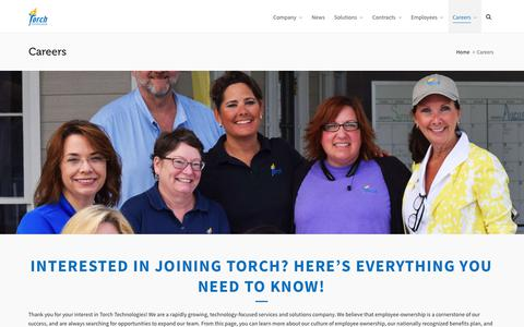 Screenshot of Jobs Page torchtechnologies.com - Careers – Torch Technologies - captured Sept. 22, 2019