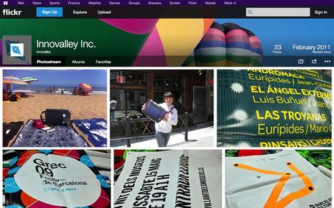 Screenshot of Flickr Page flickr.com - Flickr: Innovalley's Photostream - captured Oct. 23, 2014