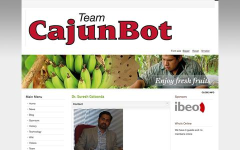 Screenshot of Contact Page cajunbot.com - CajunBot.com - Contact Us - captured Jan. 24, 2016