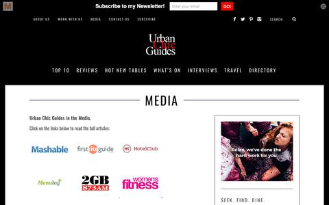 Screenshot of Press Page urbanchicguides.com - Media and Press | Sydney Restaurant Reviews, Food and Travel Blog | Urban Chic Guides - captured June 12, 2017
