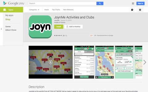 Screenshot of Android App Page google.com - JoynMe Activities and Clubs - Android Apps on Google Play - captured Oct. 23, 2014