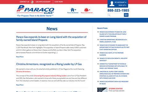 Screenshot of Press Page paracogas.com - News | Paraco Gas - captured July 14, 2017