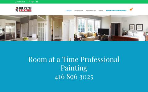 Screenshot of Contact Page roomatatimepainting.com - Contact | Room At a Time Painting - captured Oct. 20, 2018