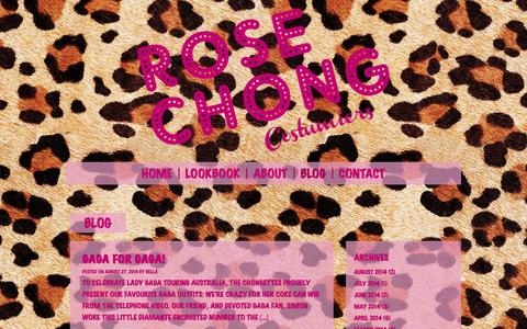Screenshot of Blog rosechong.com - Blog   Rose Chong Costumiers - captured Oct. 9, 2014