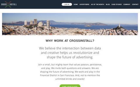 Screenshot of Jobs Page crossinstall.com - Careers — CrossInstall - captured April 16, 2018