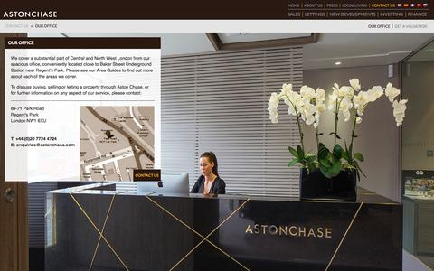 Screenshot of Contact Page astonchase.com - Our Office | Aston Chase - Properties of Distinction - captured Sept. 30, 2014