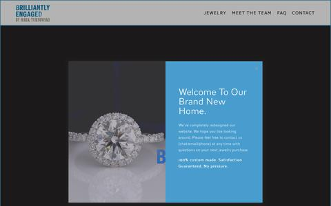 Screenshot of Home Page brilliantlyengaged.com - Brilliantly Engaged - captured Oct. 21, 2018