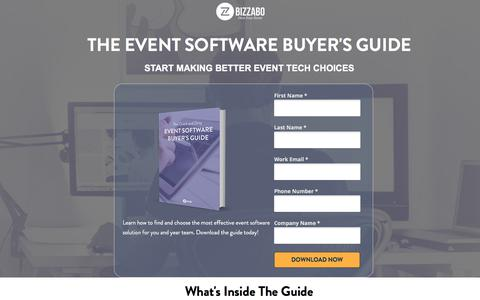 Screenshot of Landing Page bizzabo.com - Event Software Buyers Guide | Bizzabo - captured April 21, 2018