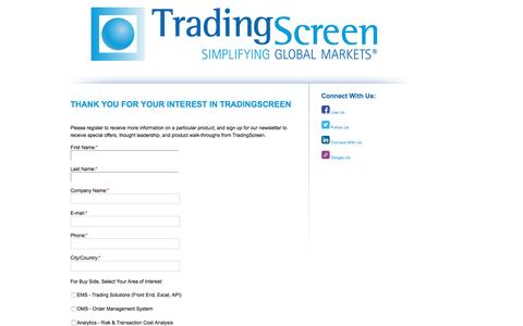 Screenshot of Demo Page tradingscreen.com - Master Product Form - captured Aug. 16, 2016