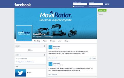Screenshot of Facebook Page facebook.com - MovilRadar | Facebook - captured Oct. 25, 2014