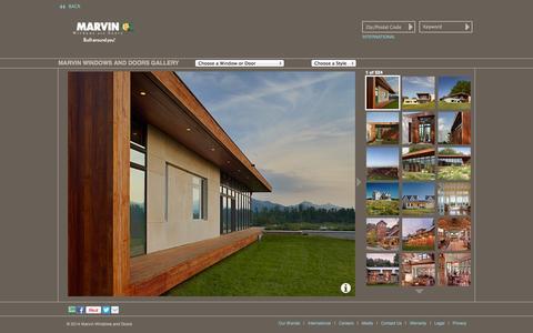 Screenshot of Landing Page marvin.com - Marvin Windows and Doors Photo Gallery - - captured Oct. 27, 2014
