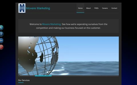 Screenshot of Home Page moveremarketing.net - Movere Marketing - captured Oct. 6, 2014