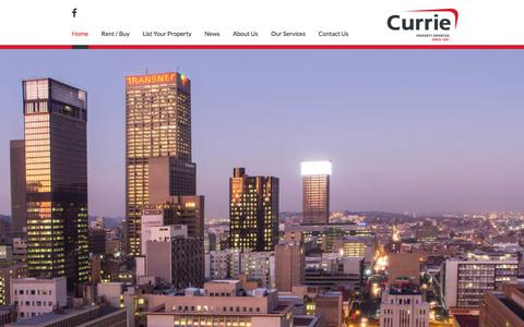 Screenshot of Home Page curriegroup.co.za - Gauteng Property Services | Currie Group - captured Sept. 19, 2017