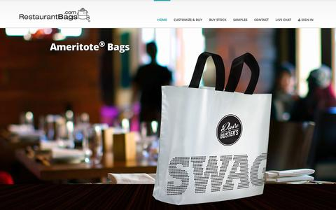 Screenshot of Home Page restaurantbags.com - Restaurant Bags, Take Out Bags, Carry Out Bags, Made in USA Custom Bags | RestaurantBags.com - captured Feb. 25, 2016