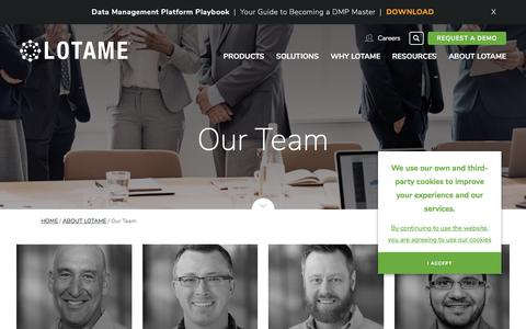 Screenshot of Team Page lotame.com - Our Team | LOTAME - captured June 3, 2017