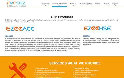 Screenshot of Products Page emesbiz.com - Emesbiz Business Solution (P) Ltd - captured Jan. 23, 2016
