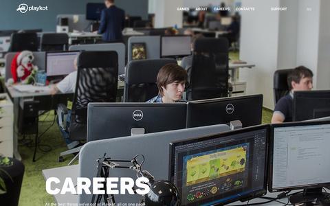 Screenshot of Jobs Page playkot.com - Work with us / Playkot - captured May 19, 2017