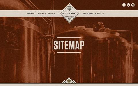 Screenshot of Site Map Page wynkoop.com - Sitemap | Wynkoop Brewing - captured Jan. 15, 2016