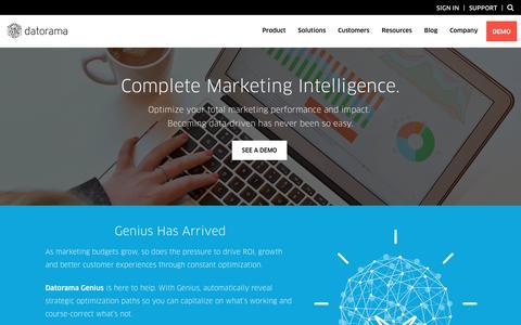 Integrated Marketing Analytics | Datorama