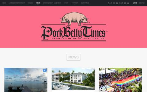 Screenshot of Press Page porkbellytimes.com - News Archives - Pork Belly Times - captured Sept. 30, 2014