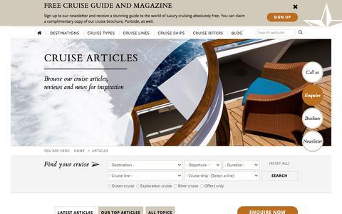 Screenshot of Blog theluxurycruisecompany.com - Cruise Blog | The Luxury Cruise Company - captured June 15, 2017