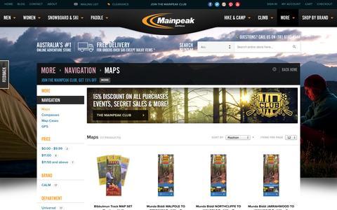Screenshot of Maps & Directions Page mainpeak.com.au - Maps - Navigation - More - captured Oct. 10, 2014