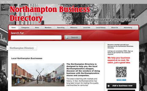 Screenshot of Home Page northampton-business-directory.com - Local companies are in the Northampton Directory - captured March 21, 2016