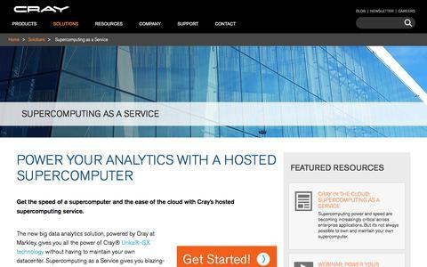 Supercomputing as a Service: Big Data Analytics Solution - Cray