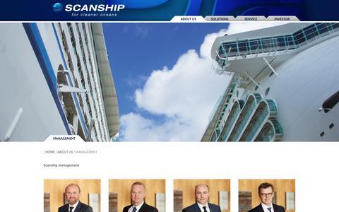 Screenshot of Team Page scanship.no captured July 27, 2018
