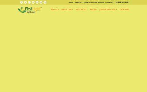 Screenshot of Site Map Page firstlighthomecare.com - Sitemap - FirstLight Home Care - captured Nov. 3, 2016