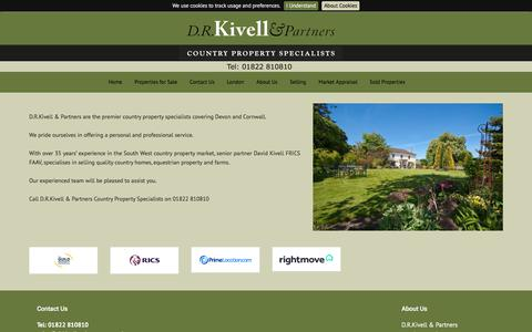 Screenshot of About Page drkivellandpartners.co.uk - About D.R.Kivell and Partners - captured Aug. 5, 2018