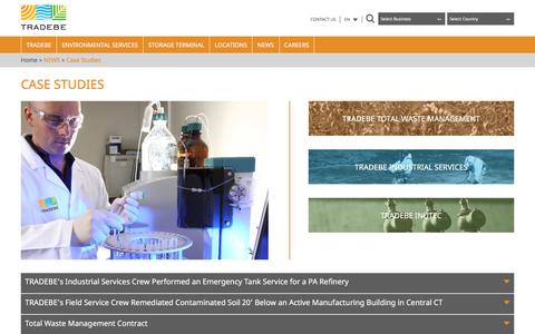 Screenshot of Case Studies Page fragsa.com - Case Studies   Tradebe - corporate - captured Dec. 5, 2016