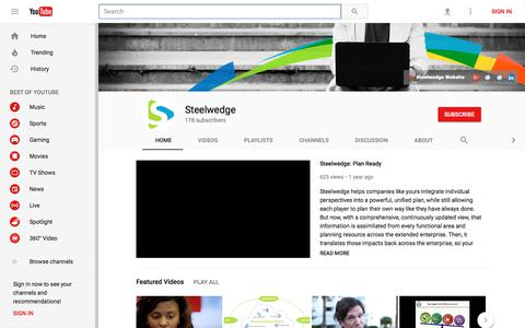 Steelwedge - YouTube