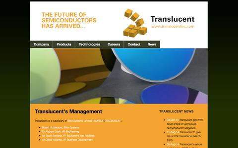 Screenshot of Team Page translucentinc.com - Documents - captured Oct. 7, 2014