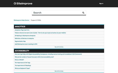 Support & FAQs – Siteimprove Help Center