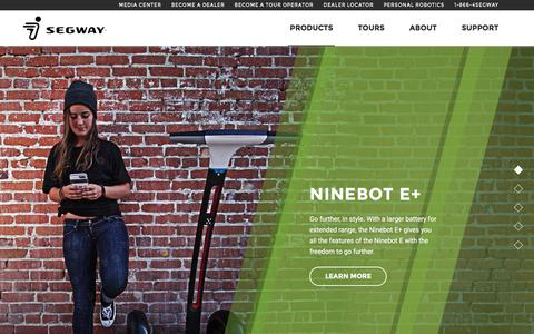 Screenshot of Products Page segway.com - Fun And Fashionable Self-Balancing Scooters | Segway - captured March 2, 2016