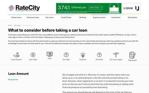 Car Loans Guide | Car Loan Considerations | RateCity